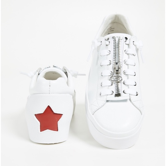6edb1e0036e2 Ash Shoes - ASH Buzz Platform White Leather Sneakers
